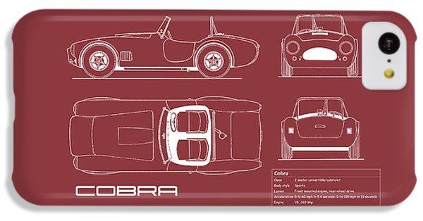 Ac Cobra Blueprint - Red IPhone 5c Case
