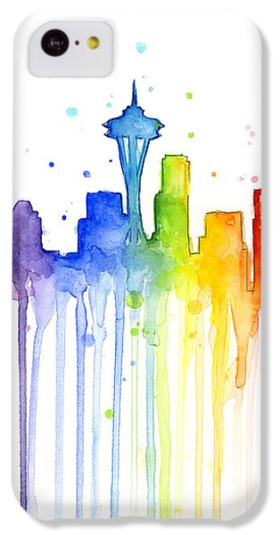 Seattle Rainbow Watercolor IPhone 5c Case