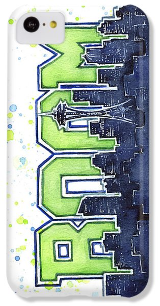 Seattle iPhone 5c Case - Seattle 12th Man Legion Of Boom Painting by Olga Shvartsur