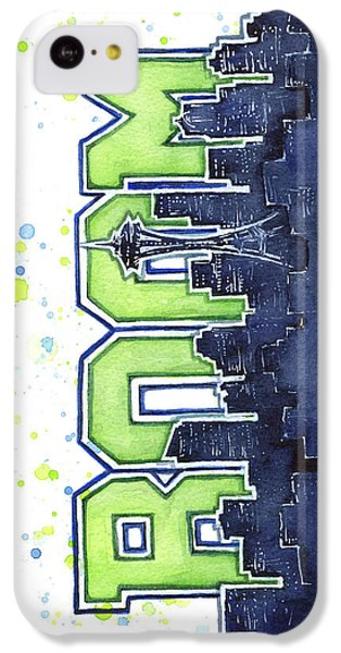 Seattle 12th Man Legion Of Boom Painting IPhone 5c Case