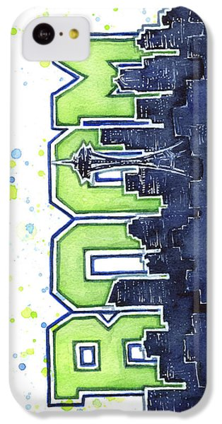 Seattle 12th Man Legion Of Boom Painting IPhone 5c Case by Olga Shvartsur
