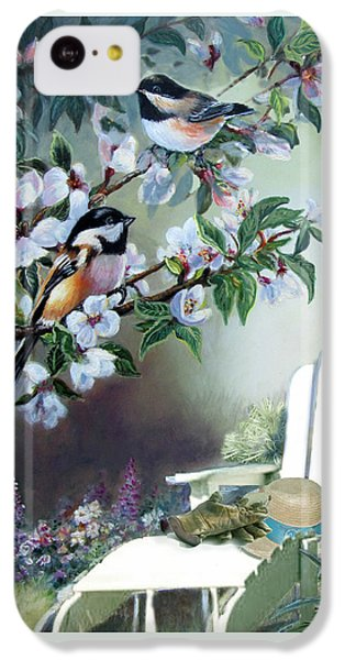 Chickadees In Blossom Tree IPhone 5c Case by Regina Femrite