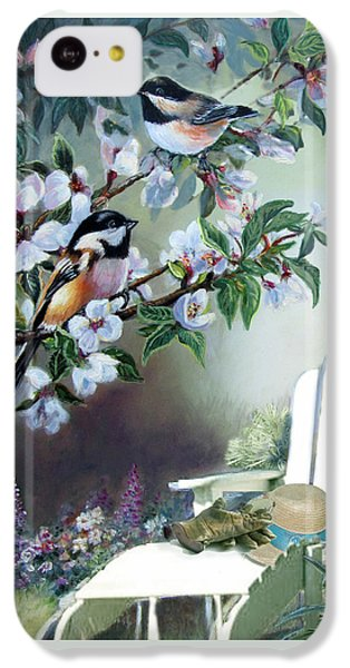 Chickadees In Blossom Tree IPhone 5c Case