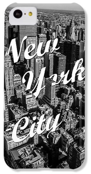 White iPhone 5c Case - New York City by Nicklas Gustafsson
