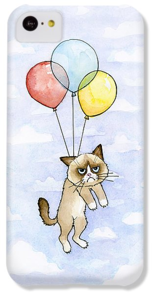 Grumpy Cat And Balloons IPhone 5c Case
