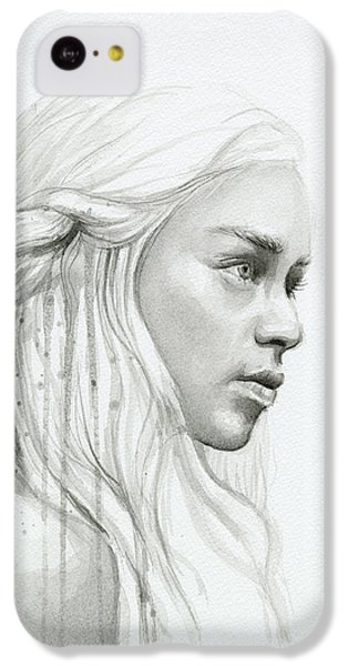 Dragon iPhone 5c Case - Daenerys Mother Of Dragons by Olga Shvartsur