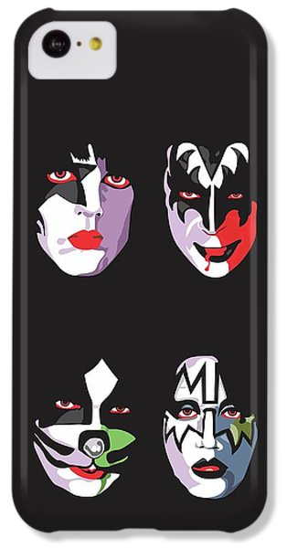 Music iPhone 5c Case - Kiss by Troy Arthur Graphics