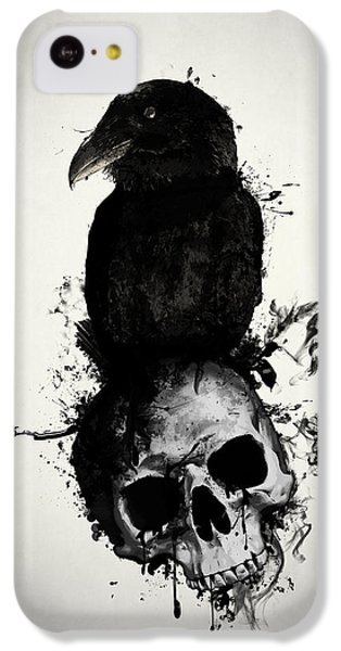 Raven And Skull IPhone 5c Case by Nicklas Gustafsson