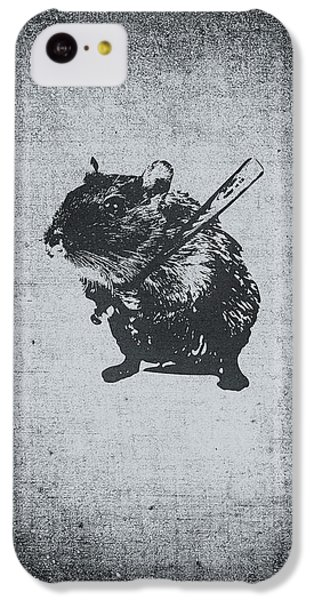 Angry Street Art Mouse  Hamster Baseball Edit  IPhone 5c Case