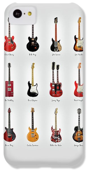 Eric Clapton iPhone 5c Case - Guitar Icons No1 by Mark Rogan