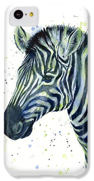 Zebra Watercolor Blue Green  IPhone 5c Case