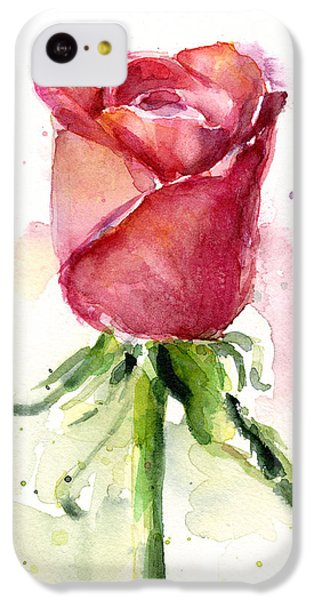 Rose iPhone 5c Case - Rose Watercolor by Olga Shvartsur
