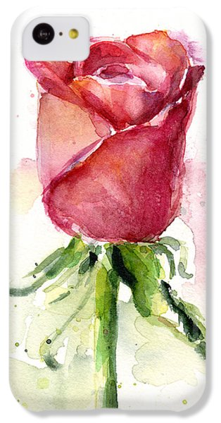 Valentines Day iPhone 5c Case - Rose Watercolor by Olga Shvartsur