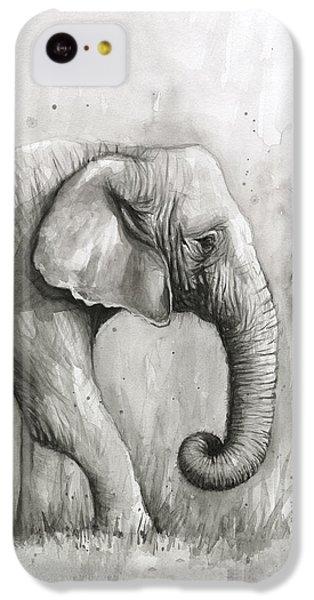 Elephant Watercolor IPhone 5c Case by Olga Shvartsur