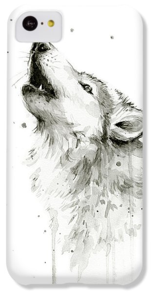 Howling Wolf Watercolor IPhone 5c Case