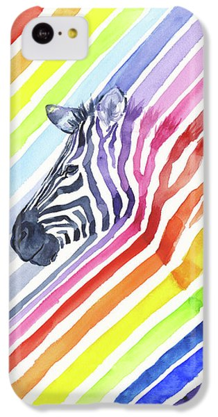 Rainbow Zebra Pattern IPhone 5c Case