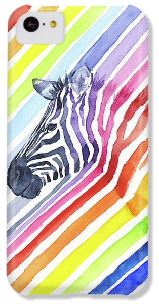 Rainbow Zebra Pattern IPhone 5c Case by Olga Shvartsur