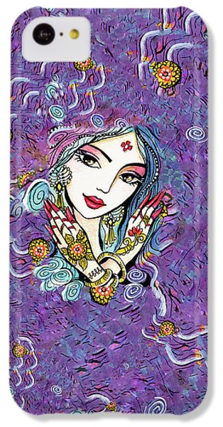 IPhone 5c Case featuring the painting Hands Of India by Eva Campbell