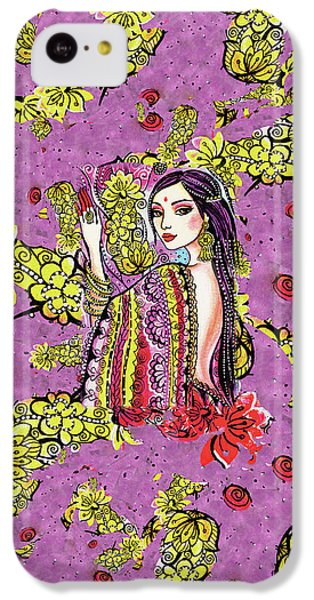 IPhone 5c Case featuring the painting Soul Of India by Eva Campbell