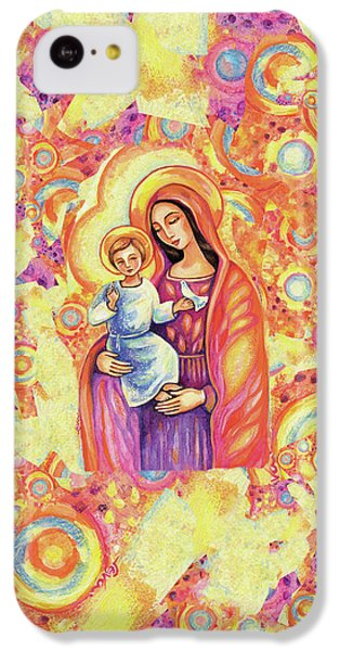 IPhone 5c Case featuring the painting Blessing Of The Light by Eva Campbell