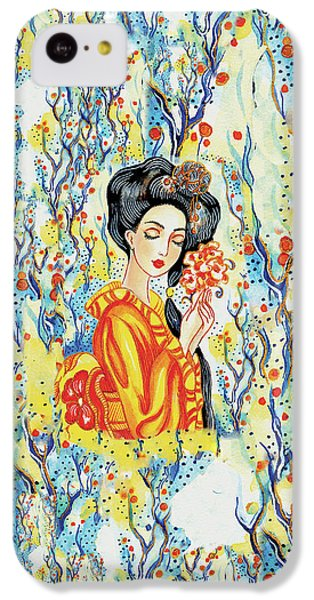 IPhone 5c Case featuring the painting Harmony by Eva Campbell
