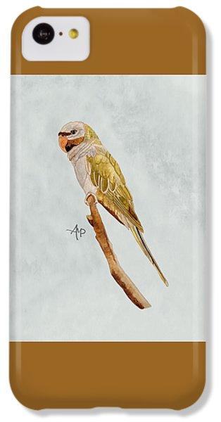 Derbyan Parakeet IPhone 5c Case by Angeles M Pomata