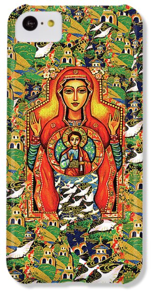 IPhone 5c Case featuring the painting Our Lady Of The Sign by Eva Campbell