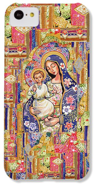 IPhone 5c Case featuring the painting Panagia Eleousa by Eva Campbell