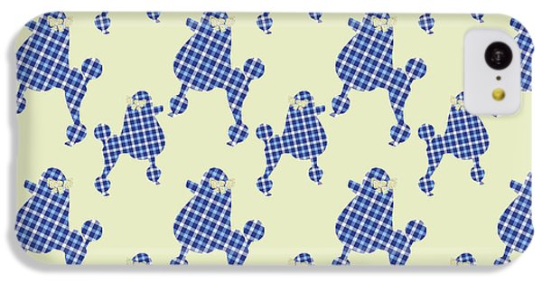 IPhone 5c Case featuring the mixed media French Poodle Plaid by Christina Rollo
