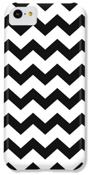 IPhone 5c Case featuring the mixed media Black White Geometric Pattern by Christina Rollo