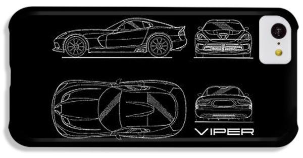 Viper Blueprint IPhone 5c Case by Mark Rogan