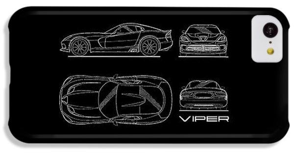 Srt Viper Blueprint IPhone 5c Case by Mark Rogan