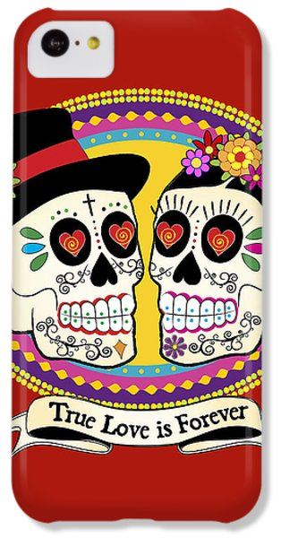 Los Novios Sugar Skulls IPhone 5c Case