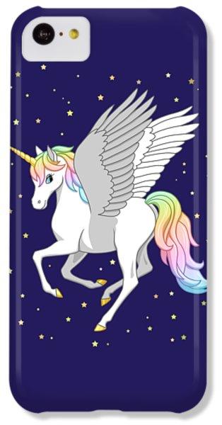 Pretty Rainbow Unicorn Flying Horse IPhone 5c Case