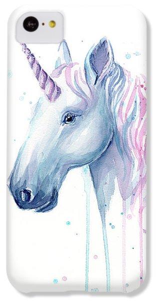 Unicorn iPhone 5c Case - Cotton Candy Unicorn by Olga Shvartsur