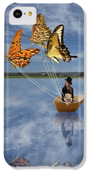 Butterfly Sailing IPhone 5c Case by Linda Lees
