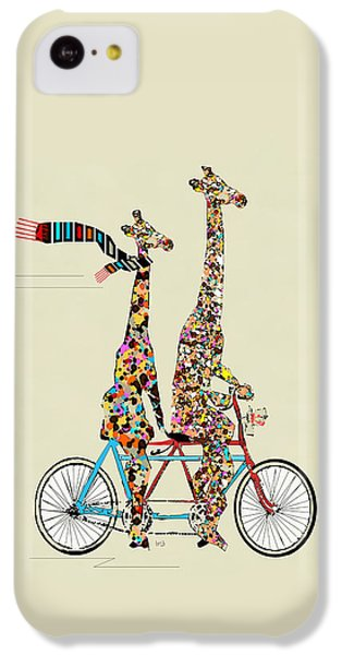 Transportation iPhone 5c Case - Giraffe Days Lets Tandem by Bleu Bri
