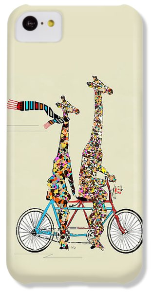 Valentines Day iPhone 5c Case - Giraffe Days Lets Tandem by Bri Buckley