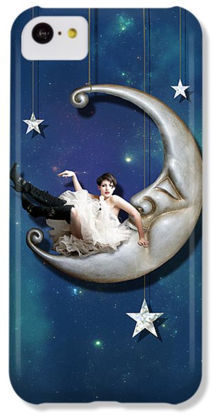 IPhone 5c Case featuring the digital art Paper Moon by Linda Lees