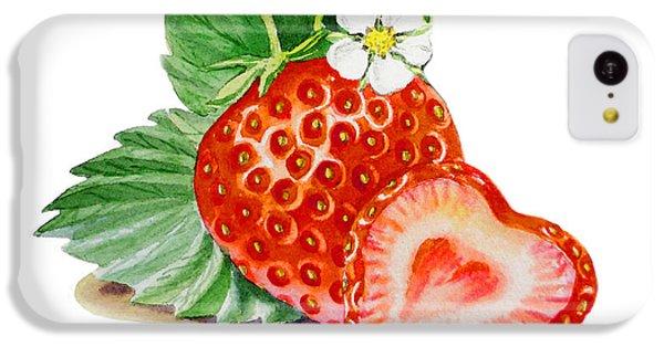 Artz Vitamins A Strawberry Heart IPhone 5c Case by Irina Sztukowski