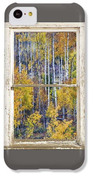 Aspen Tree Magic Cottonwood Pass White Farm House Window Art IPhone 5c Case