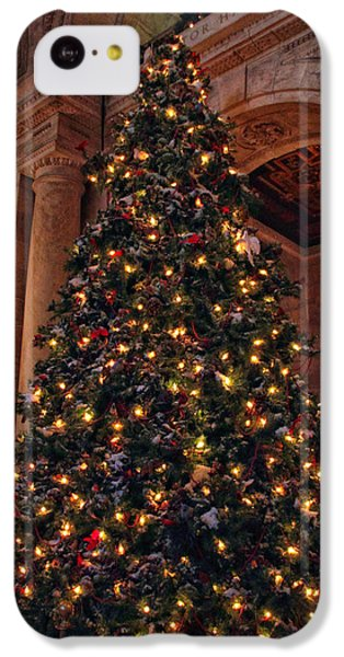 IPhone 5c Case featuring the photograph Astor Hall Christmas by Jessica Jenney