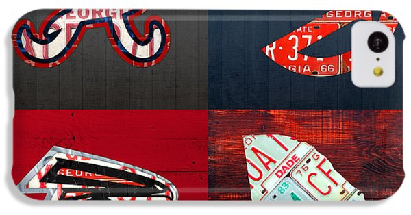 Falcon iPhone 5c Case - Atlanta Sports Fan Recycled Vintage Georgia License Plate Art Braves Hawks Falcons Plus State Map by Design Turnpike