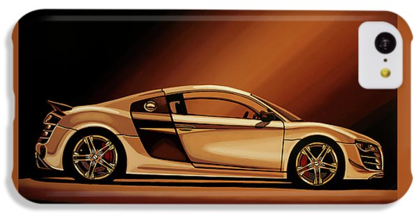 Car iPhone 5c Case - Audi R8 2007 Painting by Paul Meijering