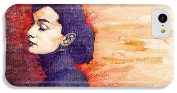 Audrey Hepburn 1 IPhone 5c Case by Yuriy  Shevchuk