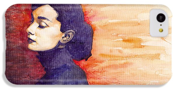 iPhone 5c Case - Audrey Hepburn 1 by Yuriy Shevchuk