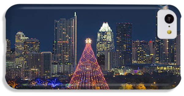 Austin Panorama Of The Trail Of Lights And Skyline IPhone 5c Case