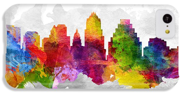 Austin Texas Cityscape 13 IPhone 5c Case by Aged Pixel