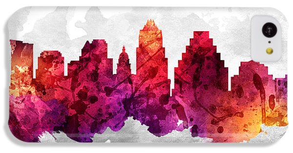 Austin Texas Cityscape 14 IPhone 5c Case by Aged Pixel