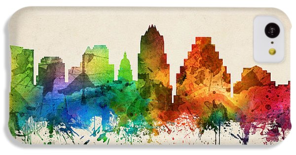 Austin Texas Skyline 05 IPhone 5c Case by Aged Pixel